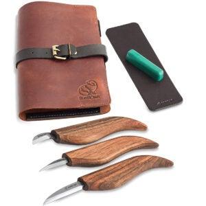 Best Whittling Knife Options: BeaverCraft Deluxe S15X Wood Carving Whittling Knives