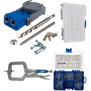 袋孔夹具选项:Kreg R3主系统带SK04口袋孔螺丝入门套件