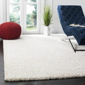 最好的区域地毯选项:Safavieh Milan Shag Collection SG180-1212区域地毯