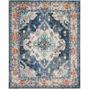 最好的区域地毯选项:Safavieh Monaco Collection Mnc243n Boho别致的区域地毯