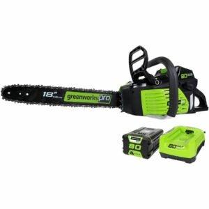 最好的电池电锯选项:GreenWorks Pro 80V 18英寸无绳电锯