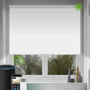 The Best Blackout Shades Option: Yoolax Motorized Shade for Window with Remote Control
