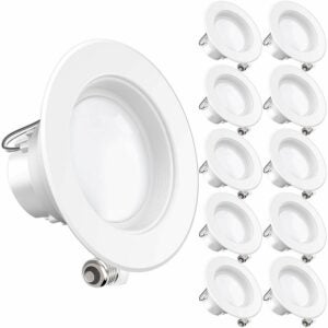 The Best Closet Lighting Option: Sunco Lighting 4-Inch LED Recessed Downlights