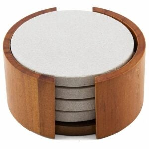 The Best Coasters Option: Thirstystone Sandstone Wood Coaster