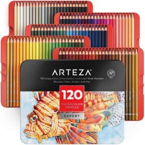 The Best Colored Pencils Options: Arteza Professional Watercolor Pencils, Set of 120