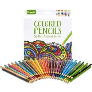 The Best Colored Pencils Options: Crayola Colored Pencils, 50 Count