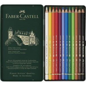The Best Colored Pencils Options: Faber Castell F110012 Polychromos Colour Pencils, 12