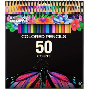 The Best Colored Pencils Options: US Art Supply 50 Piece Artist Colored Pencil Set