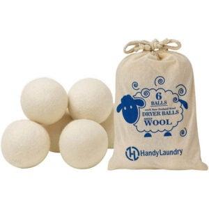 最佳烘干机球选择:手巧洗衣羊毛烘干机球