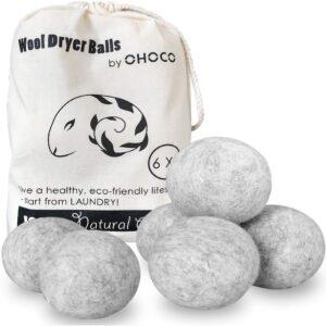 The Best Dryer Balls Options: OHOCO Wool Dryer Balls 6 Pack XL
