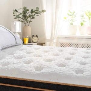 最佳公司床垫选择:Bedstory 12寸凉爽凝胶记忆泡沫混合床垫