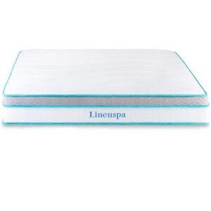 最好的公司床垫选项:Linenspa记忆泡沫和内外的混合床垫