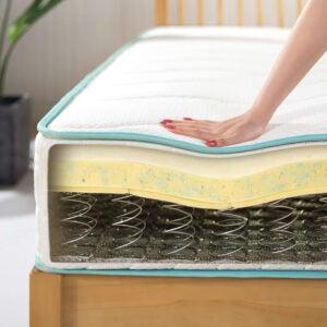 最好的坚实床垫选择:Zinus 10寸牢固顶部床垫床垫