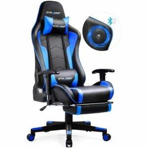 最好的游戏椅选择:带有扬声器和脚凳的GTracing游戏椅