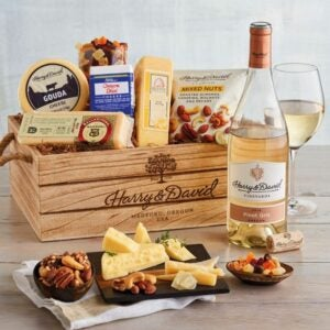 The Best Gift Baskets Option: Harry & David Gourmet Cheese Gift with Wine