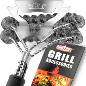 The Best Grilling Tools Options: GRILLART Grill Brush Bristle Free & Scraper