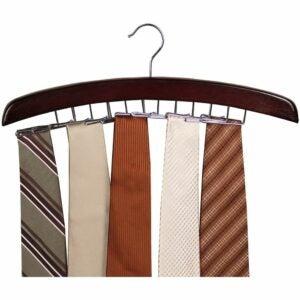 The Best Hangers Option: Richards Homewares Wooden Tie Rack