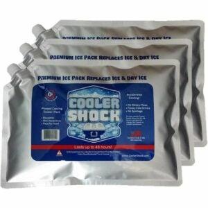 用于冷却器的最佳冰块选项:冷却器冲击3x LG。零°F冷却冻结包
