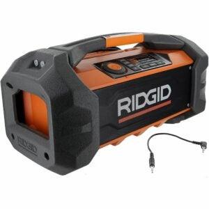The Best Jobsite Radio Option: Ridgid R84087 Lithium Ion Jobsite Radio, 18V