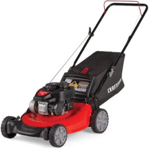 The Best Lawn Mower For Small Yards Option: Craftsman M105 140cc 21-Inch Gas Push Lawn Mower