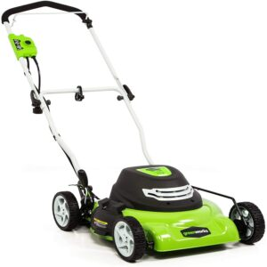 The Best Lawn Mower For Small Yards Option: Greenworks 18-Inch 12 Amp Corded Electric Lawn Mower