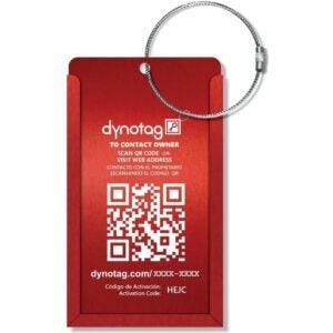 The Best Luggage Tags Option: Dynotag Web Enabled Smart Aluminum Luggage Tag