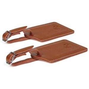 The Best Luggage Tags Option: SwissElite Genuine Leather Luggage Tags