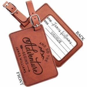 The Best Luggage Tags Option: United Craft Supplies Personalized Luggage Tags