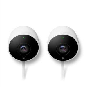 最好的户外安全摄像头选项:谷歌巢凸轮户外2包户外摄像头