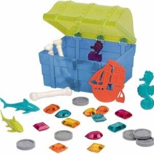 The Best Pool Toys Option: Battat Pirate Diving Set In a Treasure Box 28pcs