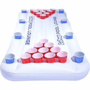 The Best Pool Toys Option: GoPong Pool Lounge Floating Beer Pong Table