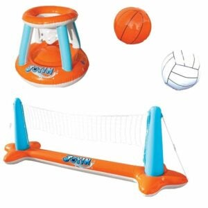 The Best Pool Toys Option: Inflatable Pool Float Set Volleyball Net by JOYIN