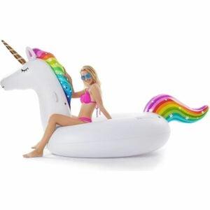 The Best Pool Toys Option: Jasonwell Giant Inflatable Unicorn Pool Float