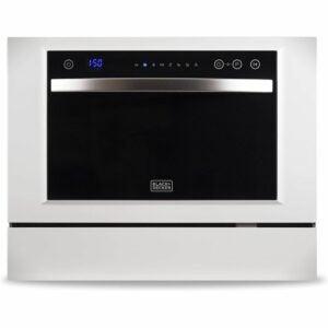 最佳便携式洗碗机选项:黑色+ Decker BCD6W 6位设置紧凑型台面