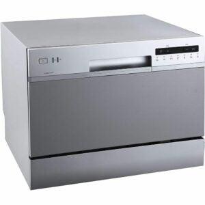 最好的便携式洗碗机选项:Edgestar DWP62SV 6位设置能源之星评分