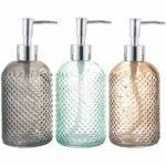 The Best Soap Dispenser Option: Cutiset 3 Pack Assorted Glass 15 Ounce Dispenser
