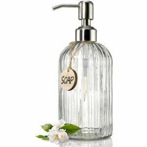 The Best Soap Dispenser Option: JASAI 18 Oz Clear Glass Soap Dispenser
