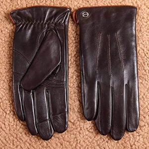 The Best Touchscreen Gloves Option: ELMA Winter Leather Gloves for Men