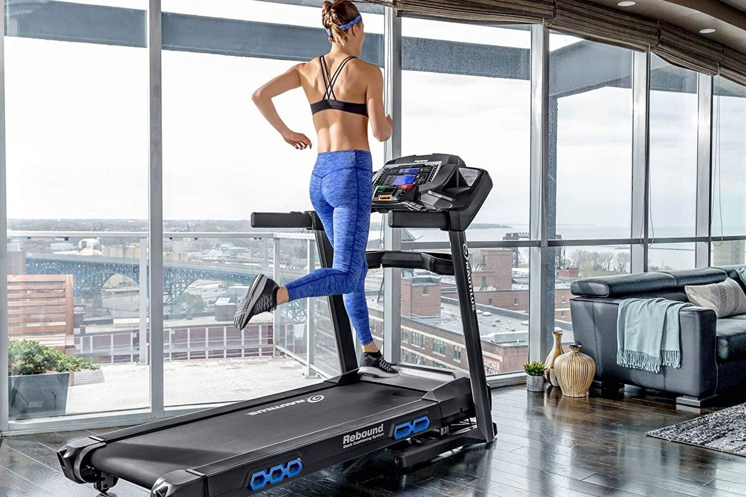 OMA Home Treadmills Calories and 3 Incline Positions for Running and Walking Exercise Max 2.25 CHP Electric Home Gym Treadmills with LED Display of Tracking Heart Rate Black