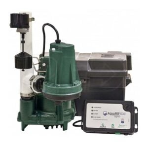 The Best Battery Backup Sump Option: Pump Zoeller ProPack98 Spin Primary & Backup Sump Pump