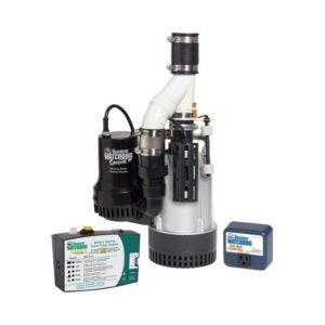 The Best Battery Backup Sump Pump Option: THE BASEMENT WATCHDOG Model BW4000 Sump Pump