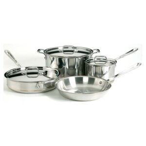 玻璃顶部炉灶的最佳炊具选项:全包铜芯5级粘合炊具套装