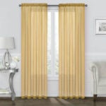 The Best Curtains Option: GoodGram 2 Pack Sheer Voile Curtains