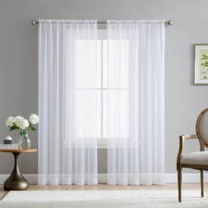 The Best Curtains Option: HLC.ME White Sheer Voile Curtains
