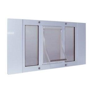 最佳狗门选择:理想的宠物产品铝推拉窗宠物门