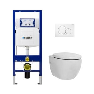 The Best Dual Flush Toilet Option: Geberit Elongated Icera Toilet w Concealed Tank