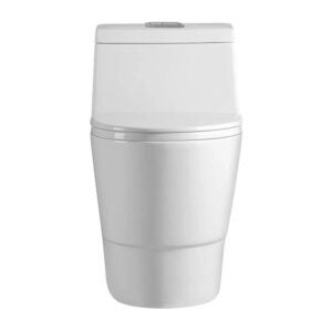 The Best Dual Flush Toilet Option: WOODBRIDGE T-0019 Cotton White Toilet
