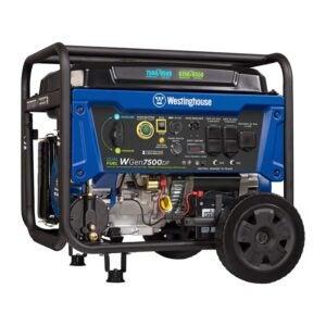 The Best Dual Fuel Generator Option: Westinghouse WGen7500DF Dual Fuel Portable Generator