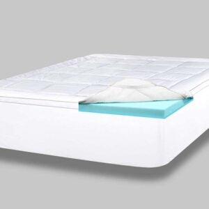 侧枕的最佳床垫脚垫选项:Viscosoft 4寸枕头顶部记忆泡沫圆顶
