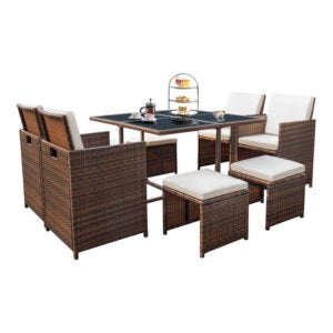 The Best Patio Furniture Option: Devoko 9 Pieces Patio Dining Sets